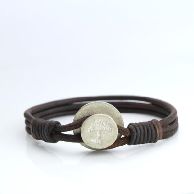 Rustic Men's Leather Bracelet