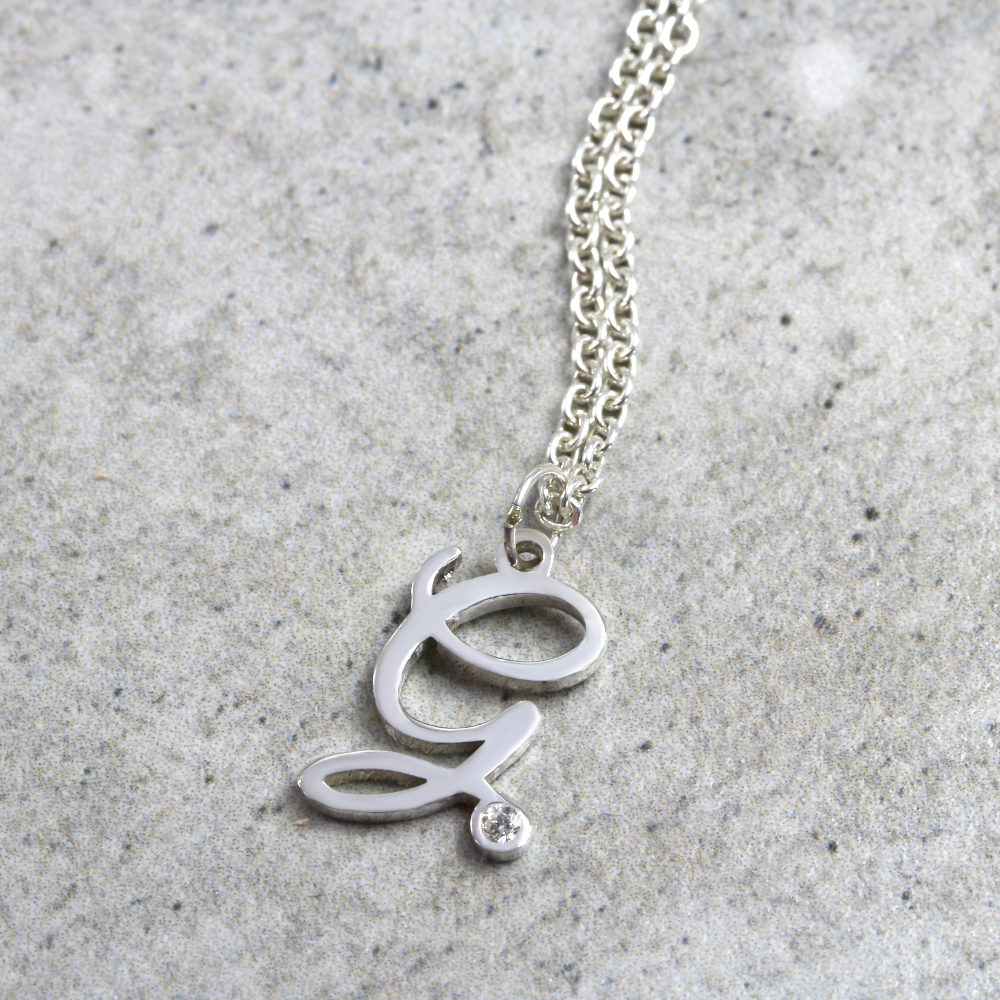 Personalised Necklace Dainty Initial Diamond Necklace Australia
