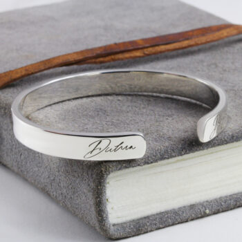 Mens personalised bangles engraved bangles in australia by silvery jewellery